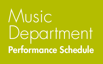 Music Department Season Schedule