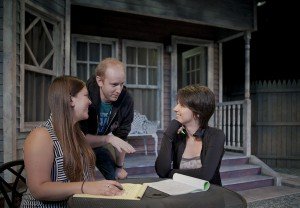 As part of her honors thesis directing Proof by David Auburn, Trudyann Buckley '15, a biology and theater double major, worked with Broadway lighting designer Jennifer Reiser and set designer Will Lowry.