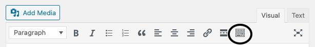 Collapsed toolbar in WordPress