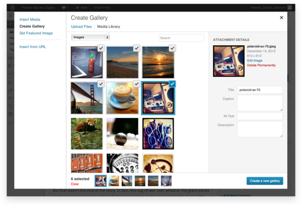 Create Gallery view