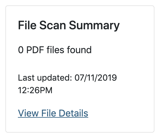 set up of the file scan block