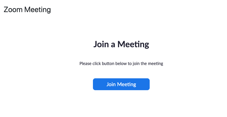 Join a Zoom Meeting directly from Moodle