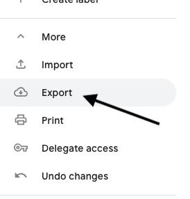 Export a contact list