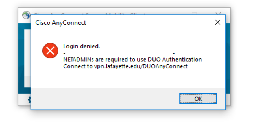 AnyConnect error message when wrong URL is entered.
