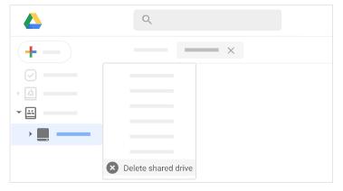 Delete a Shared drive
