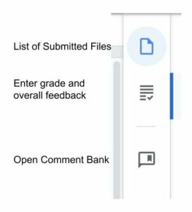 Google Assignment grading icons