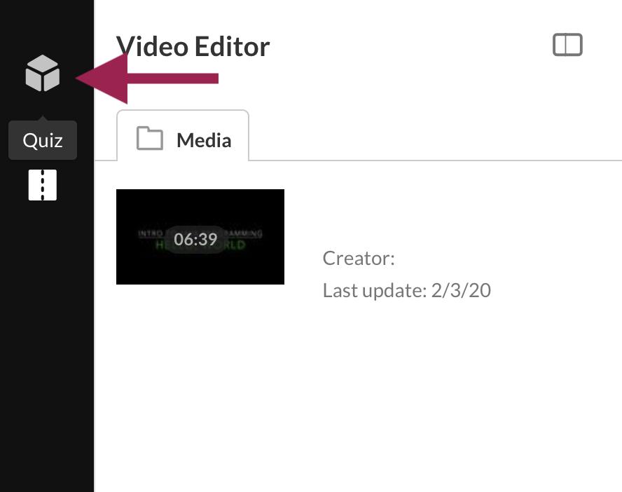 Kaltura Video Editor Screen