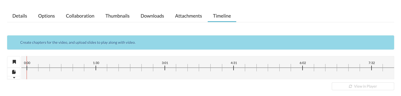 Timeline Interface Kaltura
