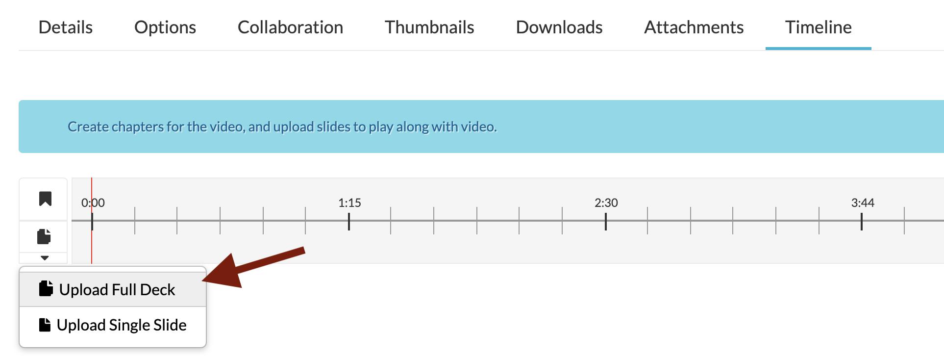 Upload full slide deck kaltura